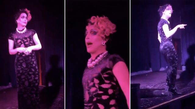 Watch a drag queen effortlessly lip sync to Wii Store music