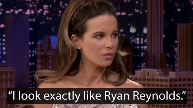 Kate Beckinsale is totally convinced that Ryan Reynolds is her doppelgänger