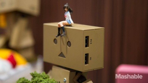 Japanese manga charger supports your smartphone with cute power