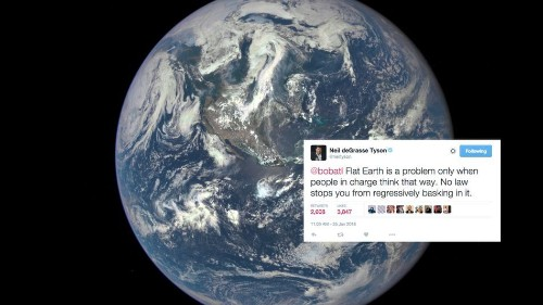 Neil deGrasse Tyson wants the rapper B.o.b. to know that the Earth is not flat