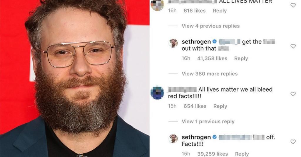 Seth Rogen has a blunt method of tackling 'All Lives Matter' commenters on Instagram