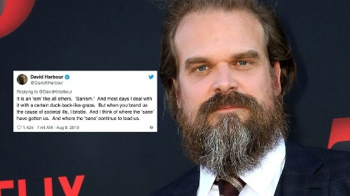 David Harbour has strong words for those blaming mental illness for mass shootings - Culture - Mashable SEA