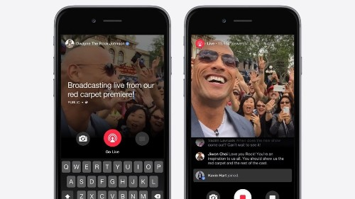 Facebook launches live streaming, but only for famous people