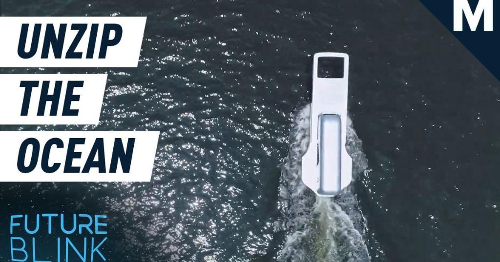 An artist in Japan made a ship that looks like a zipper
