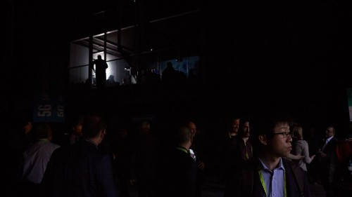 The Central Hall at CES 2018 just lost power, and people cheered