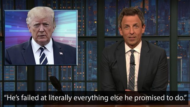 Seth Meyers slams Trump's many broken promises in an 11-minute deep dive