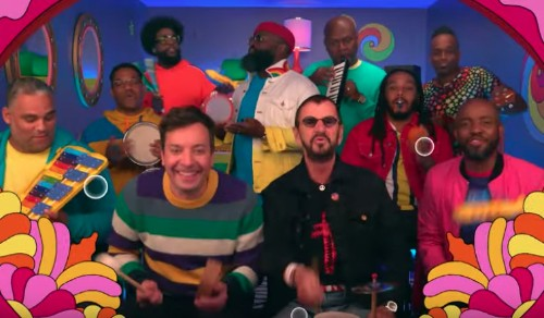 Let Ringo Starr, Jimmy Fallon and The Roots distract you with an adorable toy-instruments version of 'Yellow Submarine' - Entertainment