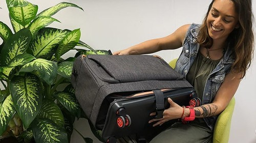 Meet the magic, expandable suitcase that transforms right before your eyes