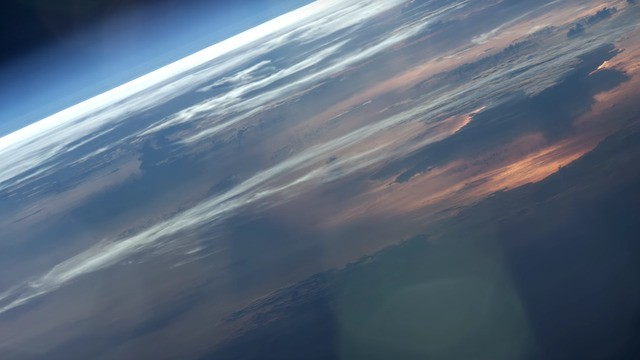 This is what astronauts see when they look out their window