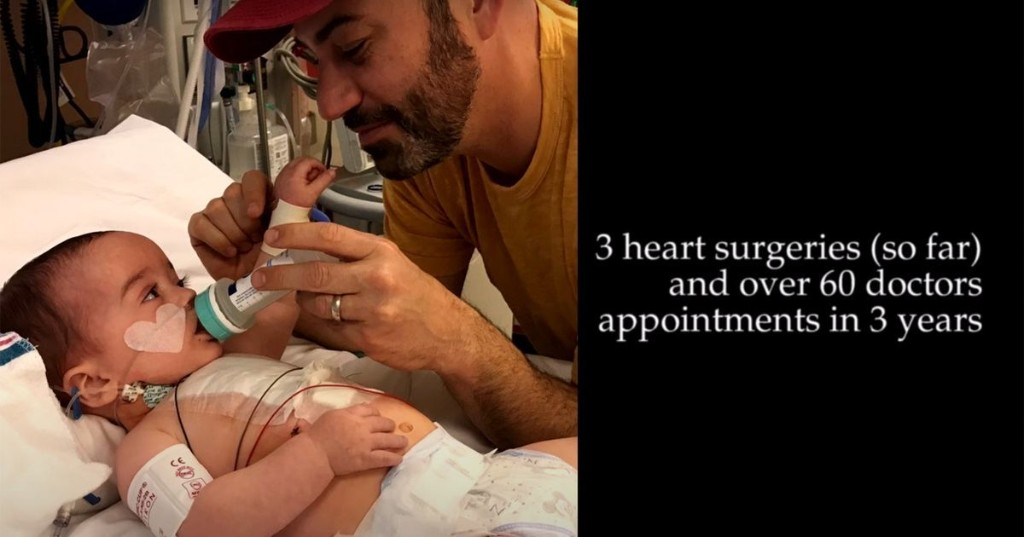 Jimmy Kimmel shares moving video of his son to make a point about pre-existing conditions