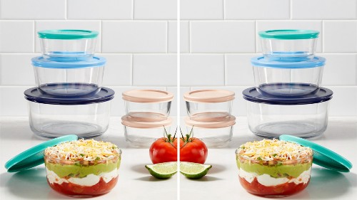 Pyrex 12-piece food storage set on sale for dirt cheap at Macy's