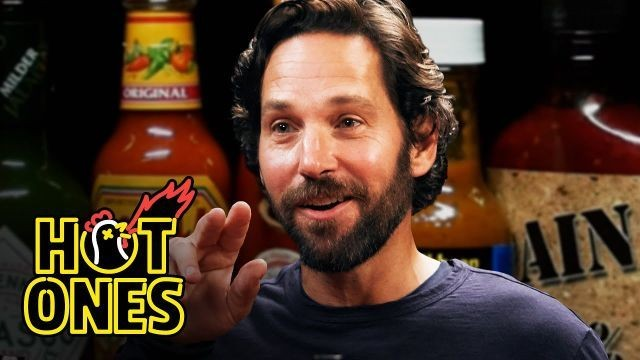 Watch Paul Rudd eat vegan hot wings and then try to act