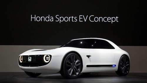 Honda unveils a new Sports EV concept car at the Tokyo Motor Show