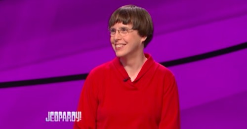 Badass librarian who loves cats and knitting cleans up on 'Jeopardy!'