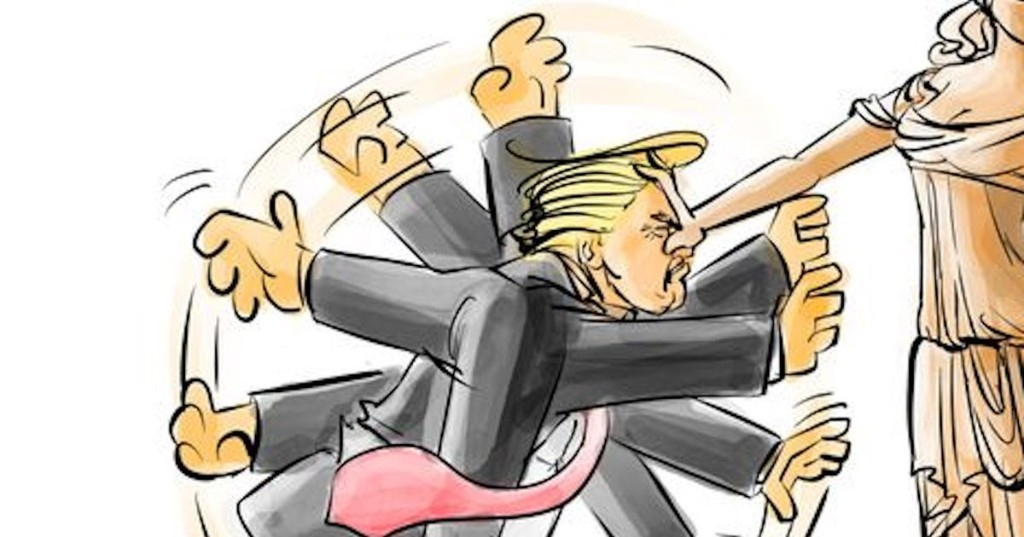 People can't stop sharing this cartoon about Trump's 'Muslim ban'
