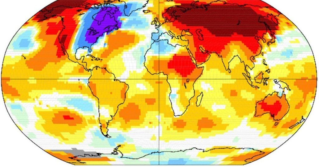 Basically, the only unusually cold place on Earth last month was the eastern U.S.