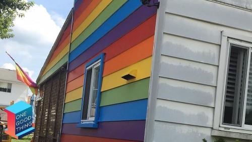 Same-sex couple paints their house rainbow to troll their homophobic neighbors