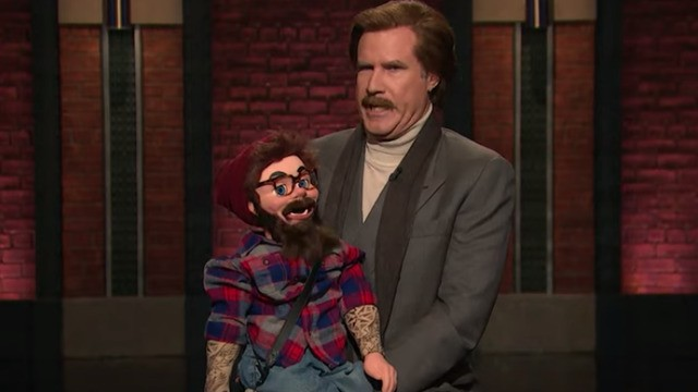 Ron Burgundy's mega-awkward standup act takes over every late night show
