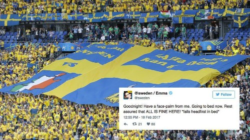 Internet turns to @Sweden after Trump appears to invent terror attack