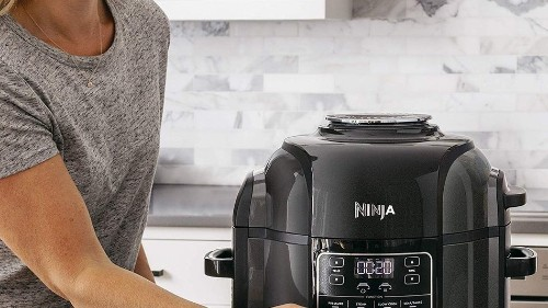 The Ninja Foodi pressure cooker and air fryer is $50 off at Amazon
