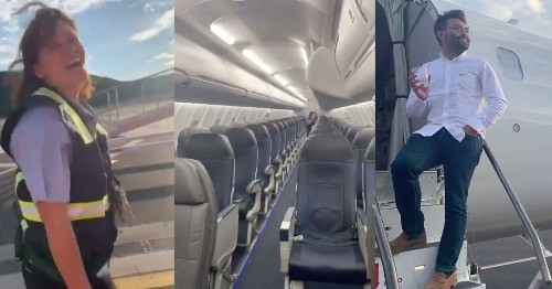 Only passenger on a Delta plane has the time of his life with the crew