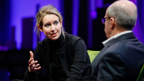 Behold, the best (and most frightening) Elizabeth Holmes impression