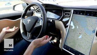 I went hands-free in Tesla's Model S on Autopilot, even though I wasn't supposed to