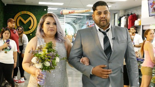 Cannabis-loving couple gets married at a weed dispensary on 4/20 at 4:20pm