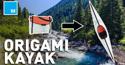You can take this origami kayak anywhere