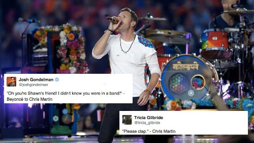 Chris Martin is the Super Bowl's biggest loser, according to the Internet