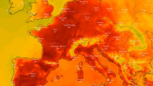 Temperature records broke in Germany, Belgium, and the Netherlands