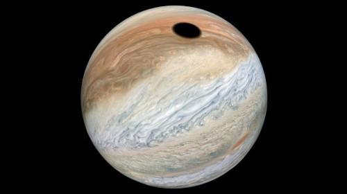 NASA's Juno Captured Abysmal Images Of Solar Eclipse On Jupiter