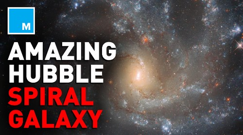 The Hubble Telescope takes incredible image of spiral galaxy