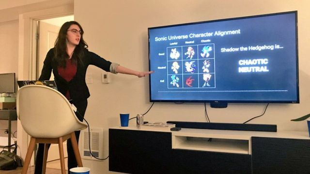 This nerdy PowerPoint party theme is kind of genius