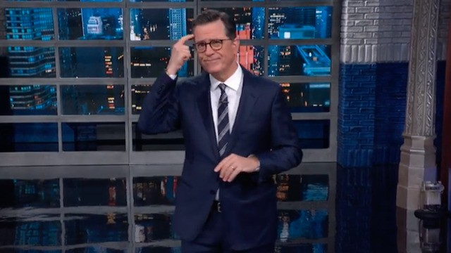 Stephen Colbert has a genius theory about who the Ukraine whistleblower might be