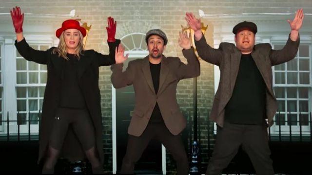 Emily Blunt, Lin-Manuel Miranda, and James Corden cram 22 musicals into just 12 minutes