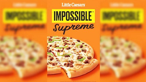 Little Caesars to collaborate with Impossible Food on plant-based 'meat toppings'