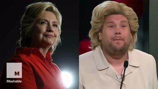 Dressed up as the Clintons, James Corden and Denis Leary beautifully sing Trump is an 'Asshole'