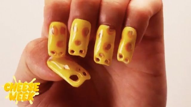 We found the cheesiest nails on the internet (literally)