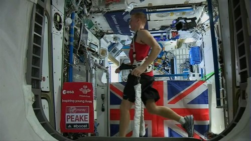 British astronaut Tim Peake ran the London Marathon in space