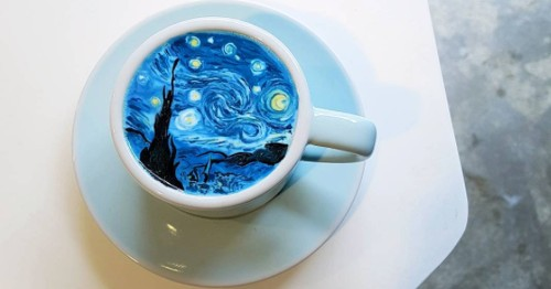 This guy makes amazing coffee art that is seriously next level