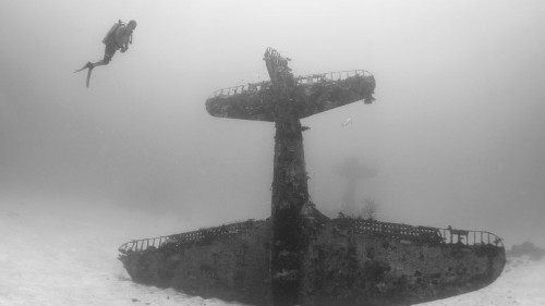 Underwater graveyard full of WWII planes is otherworldly
