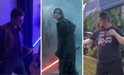 #BenSoloChallenge: Adam Driver's Lightsaber Trick Inspires Star Wars Fans To Do The Same - Entertainment