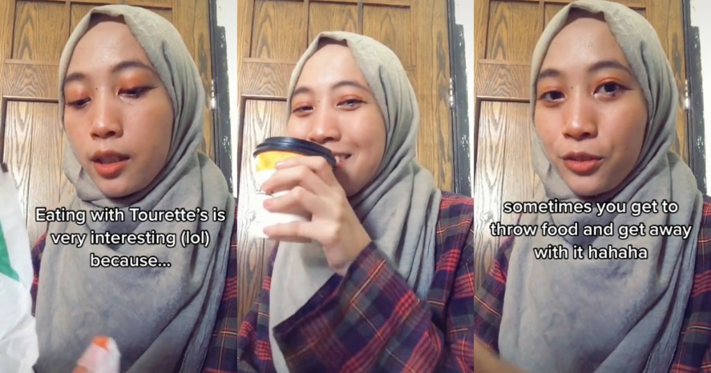 Charming Malaysian TikTok user shows us what it's like eating with Tourette's syndrome