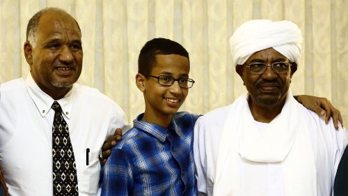 'Clock boy' Ahmed Mohamed meets Sudanese president, a wanted war criminal