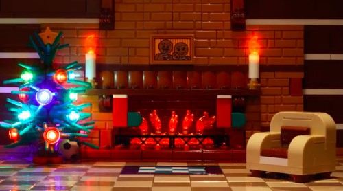 You Can Curl Up In Front Of A Cozy Lego Yule Log That's Streaming On YouTube 24/7 - Culture