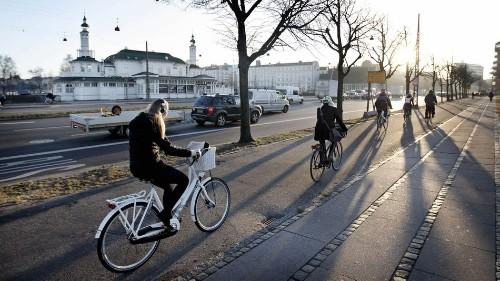 Copenhagen's morning traffic isn't what you'd imagine in a big city