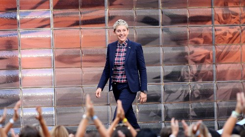 Ellen DeGeneres gets a dark side with the 'me on Ellen' meme
