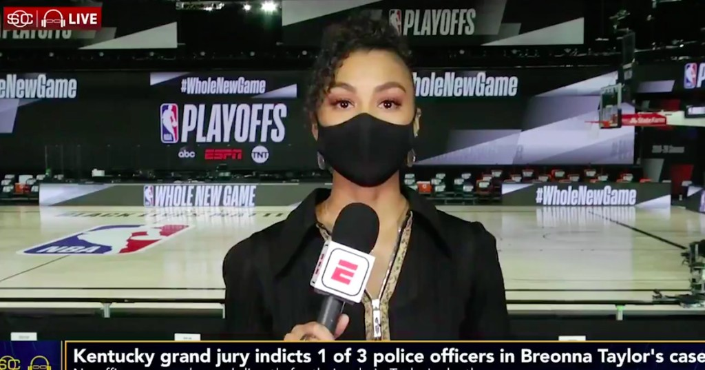 'That could have been me': ESPN reporter gives emotional speech about Breonna Taylor's killing