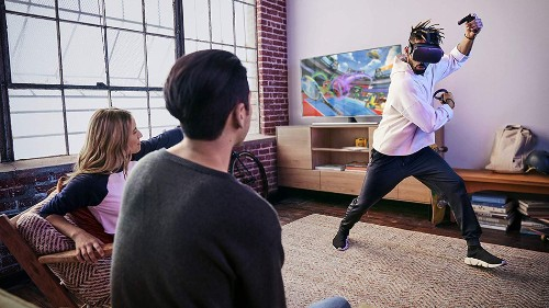 The Oculus Quest all-in-one VR gaming headset is available for under £400
